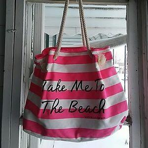 Victoria's secret beach tote bag cute!